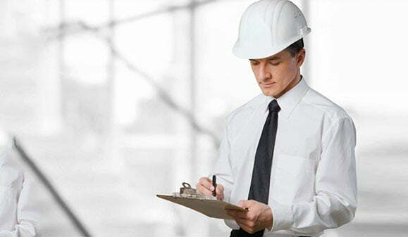 Stock image of man with a clipboard